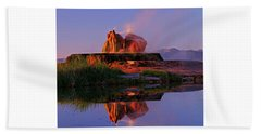 Fly Geyser At Dawn Beach Towel by Sean Sarsfield