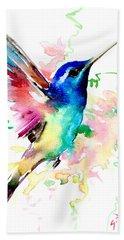 Flying Hummingbird Beach Towel