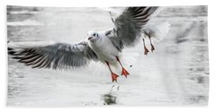 Flying Seagulls Beach Towel
