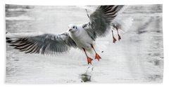 Flying Seagulls Beach Sheet