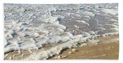 Foam On The Waves Beach Towel