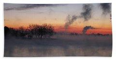 Fog On The Lake Beach Sheet