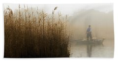 Foggy Fishing Beach Towel