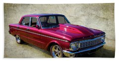 Beach Towel featuring the photograph Ford Falcon by Keith Hawley