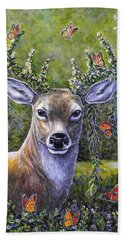 Forest Monarch Beach Towel by Gail Butler