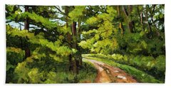 Forest Pathway Beach Towel by Alexandra Maria Ethlyn Cheshire