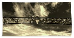 Fort Worth Stockyards District Archway Beach Towel