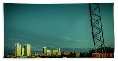 Fortworth Texas Cityscape Beach Sheet