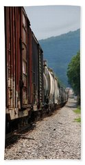 Freight Train Beach Towel