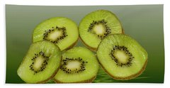 Fresh Kiwi Fruits Beach Towel by David French