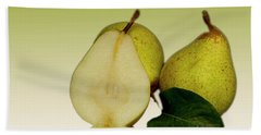 Fresh Pears Fruit Beach Towel
