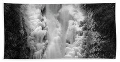Frozen Multnomah Falls Beach Towel