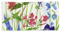 Garden Flowers Beach Towel