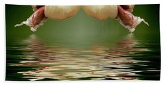 Beach Towel featuring the photograph Garlic Cloves Of Garlic by David French