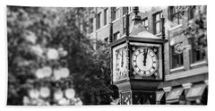Gastown Steam Clock Beach Sheet