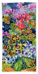 Geranium II Beach Towel