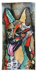 German Shepherd Beach Towel by Patricia Lintner