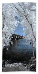 Gervais St. Bridge In Surreal Light Beach Sheet
