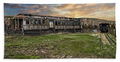 Beach Towel featuring the photograph Ghost Train by Scott Read