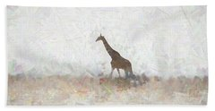 Giraffe Abstract Beach Towel by Ernie Echols
