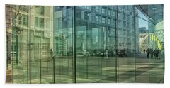 Beach Sheet featuring the photograph Glass Panels At Le Grande Arche by Patricia Hofmeester