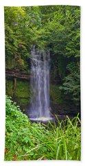 Glencar Waterfall Is Situated Beach Towel
