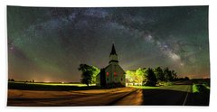 Beach Towel featuring the photograph Glorious Night by Aaron J Groen