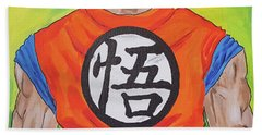 Goku Kanji Beach Towel