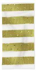 Gold Hearts Stripes Beach Sheet