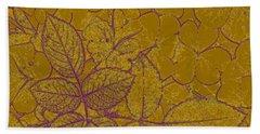 Gold Leaf Beach Towel