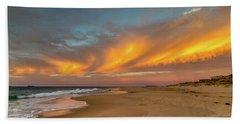 Golden Clouds Beach Towel