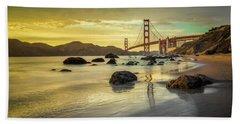 Golden Gate Sunset Beach Towel