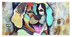 Golden Retriever Beach Towel by Patricia Lintner