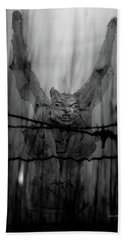 Gothic Guardian Bw Beach Towel