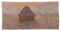 Grainstack, Sun In The Mist Beach Towel