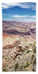 Grand Canyon View From The South Rim, Arizona Beach Sheet by A Gurmankin