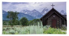 Beach Sheet featuring the photograph Grand Teton Church by Dawn Romine