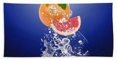 Grapefruit Splash Beach Towel
