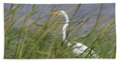 Great Egret Port Jefferson New York Beach Sheet