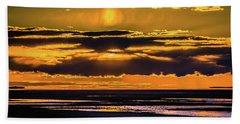 Beach Towel featuring the photograph Great Salt Lake Sunset by Bryan Carter