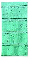 Green Brick Wall Beach Towel