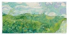 Green Wheat Fields   Auvers Beach Towel