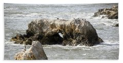 Beach Sheet featuring the photograph Grey Water At Window Rock by Barbara Snyder