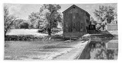 Beach Towel featuring the photograph Grist Mill by Andrea Platt