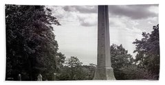 Beach Towel featuring the photograph Gwaltney Cemetery  by Melissa Messick