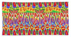 Happy Celebrations Abstract Acrylic Painting Fineart From Navinjoshi At Fineartamerica.com These Gra Beach Towel by Navin Joshi