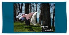 Happy Dance Beach Towel