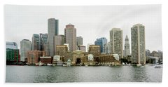 Harbor View Beach Towel by Greg Fortier