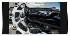 Beach Towel featuring the photograph Harley Davidson 15 by Wendy Wilton