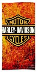 Harley-davidson Beach Towel